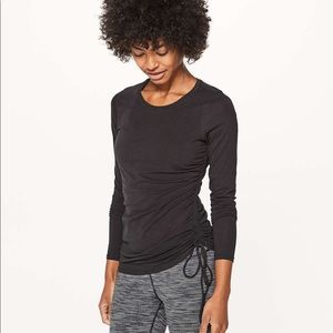 Lululemon Black Cinch It LS